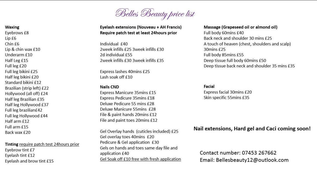 beauty-price-list